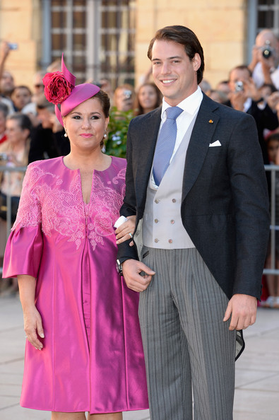Prince Felix with his mother, the Grand Duchess of Luxembourg